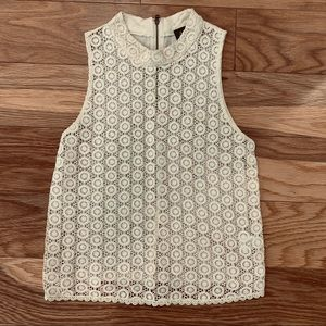Nordstrom Creme Lace Top